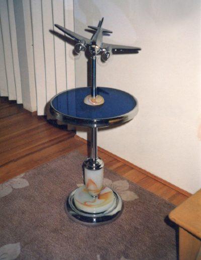 Vintage Bespoke Airplane Table Lamp