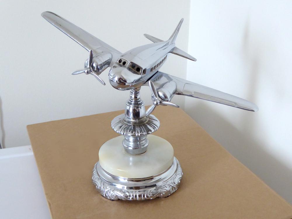 Vintage Airplane Tabletop Lamp