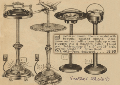 Vintage advert for Airplane Lamp Floor Stand