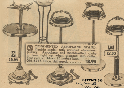 Vintage Eaton's advert for Airplane Lamp Floor Stand