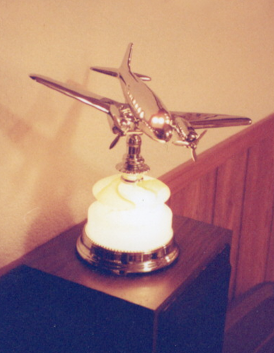Vintage airplane lamp
