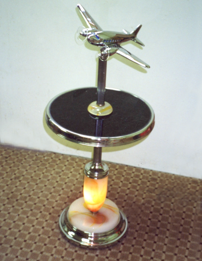 Bespoke non-factory airplane lamp floor model