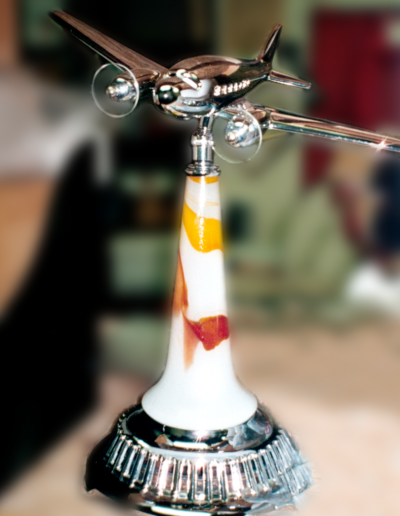 Bespoke non-factory airplane medium table lamp