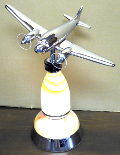 Bespoke non-factory airplane medium table lamp