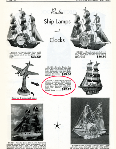 Vintage advert for Airplane Lamp