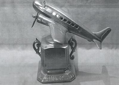 Airplane lamp coin bank