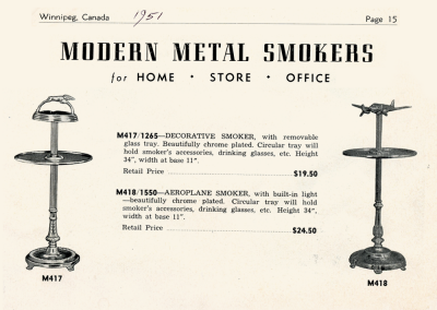 Modern Metal Smokers Ad 1951